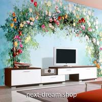 3D 壁紙 1ピース 1㎡ 薔薇の花 アーチ 植物 インテリア 部屋装飾 耐水 防湿 防音 h02974