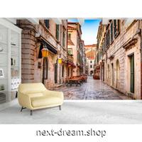 3D 壁紙 1ピース 1㎡ ヨーロッパの街並み レンガ通り シティビュー 寝室 リビング 客室 m03332