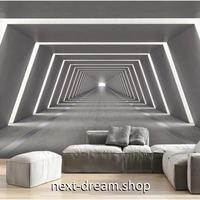 壁紙 奥行きのある立体空間デザイン トンネル 1ピース 1㎡ サイズカスタマイズ可能 部屋 ショップ 店舗 m06160