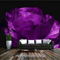 カスタム3D壁紙 1ピース 1㎡ フラワー 花 紫 パープルローズ 部屋 リビング 寝室 ショップ ウォールペーパー m05893