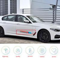 BMW 車 ステッカー ペア Mパフォーマンス ドア サイド ビニールデカール e46 e90 e39 f30 f10 e70 e60 e36 x5 e53 e34 e30 h00028