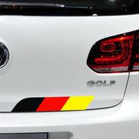 ワーゲン ステッカー デカール ボディ リア Volkswagen トリコロール h00500