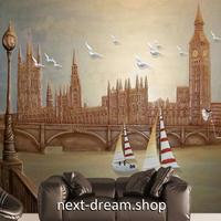3D 壁紙 1ピース 1㎡ シティ風景 レトロ ヨーロッパ DIY リフォーム インテリア 部屋 寝室 防湿 防音 h03371
