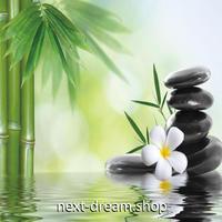 3D 壁紙 1ピース 1㎡ 自然風景 竹 笹の葉 水面 和テイスト インテリア 装飾 寝室 リビング 耐水 防カビ h02442