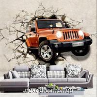 3D 壁紙 1ピース 1㎡ ウォールアート 壁から車 インテリア 装飾 寝室 リビング 耐水 防湿 h02556