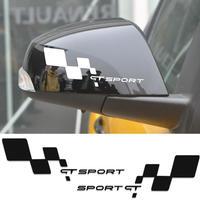 ルノー クリオ ステッカー GTスポーツ フラグスタイル サイドミラー Clio R.S Twingo メガネユニバーサル h00190