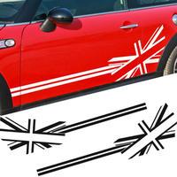 ミニクーパー ステッカー ドアサイド ユニオンジャック R50 R53 F55 F56 R52 R56 R57 R58 R59 R60 R60 h00153