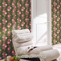 3D壁紙 60×1000cm レンガ 薔薇 植物 DIY リフォーム インテリア 部屋 リビング 寝室 防水 防音 h03793