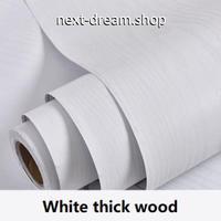 壁紙 60×1000cm 木目模様 ホワイト 白 Wood DIY リフォーム インテリア 部屋/キッチン/家具にも 防水PVC h04112