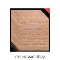 ウォールステッカー 3D壁紙 60×70cm 10枚セット 木の板 ハンドメイド感 ブラウン 防水 リフォーム キッチン・古いドアにも m02749