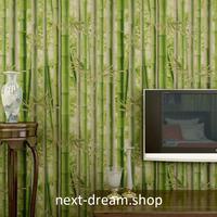 3D 壁紙 53×1000㎝ 自然風景 竹林 森 DIY 不織布 カビ対策 防湿 防水 吸音 インテリア 寝室 リビング h02010