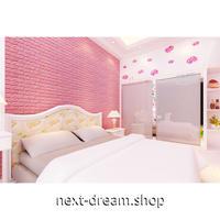 ウォールステッカー 3D壁紙 77×70cm 超立体カラフルレンガ サーモンピンク 防水 家具リフォーム キッチン・お風呂・古いドアにも m02743