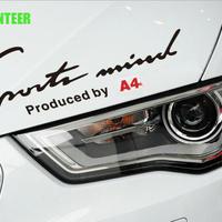 アウディ ステッカー ヘッドライト ロゴ RS Sline Audi h00370