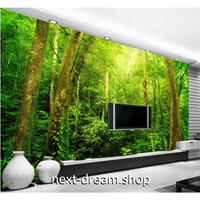 3D壁紙 1ピース 1㎡ 自然風景 森林 緑 マイナスイオン インテリア 寝室 リビング ショップ 耐水 防カビ m04365