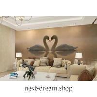 壁紙 8D素材 白鳥 湖 ハート 1ピース 1㎡ サイズカスタマイズ 部屋 リビング 寝室 ショップ 店舗 m06072
