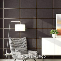 3D 壁紙 53×1000㎝ モダン ブロック格子柄 DIY 不織布 カビ対策 防湿 防水 吸音 インテリア 寝室 リビング h01955