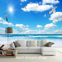 3D 壁紙 1ピース 1㎡ 自然風景 青い海 サンシャイン カモメ インテリア 装飾 寝室 リビング h02238