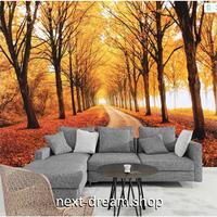 3D 壁紙 1ピース 1㎡ 自然風景 紅葉 一面オレンジ もみじ 楓 癒し効果 リビング 客室 m03343