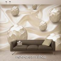 3D 壁紙 1ピース 1㎡ 北欧モダン 白 シルク ボール DIY リフォーム インテリア 部屋 寝室 防湿 防音 h03165
