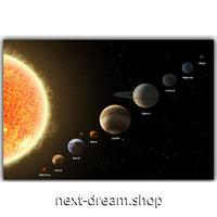 【お洒落な壁掛けアートパネル】 枠付き 40×60cm 太陽系惑星 宇宙 地球 月 火星 絵画 部屋 インテリア m06353