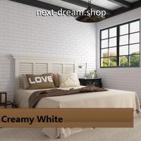 3D壁紙 70×77cm レンガ模様 ホワイト 白 DIY リフォーム インテリア 部屋/リビング/家具にも 防水ポリエチレン 防音 h04285