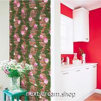 【ウォールステッカー】 3D 壁紙  60×1000cm レンガ 薔薇 バラ 草 DIY 寝室 リビング インテリア m02433