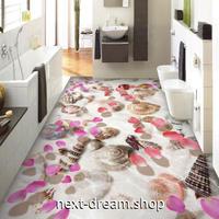 3D 壁紙 1ピース 1㎡ 床用 自然風景 ビーチ 貝殻 DIY リフォーム インテリア 部屋 寝室 防湿 防音 h03542