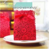 新品送料込  ギフトボックス 50個セット 花柄 リボン付  バレンタイン お誕生日会 結婚式 ラッピング プレゼント  m01129