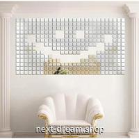 ☆インテリア3Dステッカー☆ スクエア型 2cm 500個セット 銀色 壁用 アクリルシール デコ素材 DIY 店舗 m05616