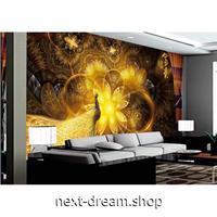 カスタム3D壁紙 1ピース 1㎡ 黄金 孔雀 中華風 キッチン 寝室 リビング クロス張替 リメイクシート m04522