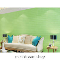 ウォールステッカー 3D壁紙 77×70cm カラフルレンガ 黄緑 防水 家具リフォーム キッチン・お風呂・古いドアにも m02726