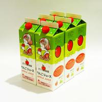 【青森県産りんご果汁100%ジュース】さくら果樹園りんごジュース 1リットル 6本入り〈ヤマハチアップル〉