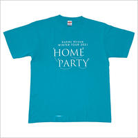 """HOME PARTY""ロゴTシャツ / ターコイズブルー"