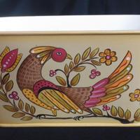 ペンシルバニアダッチの素朴なデザインのブリキのボックス