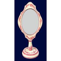 プリントアウト式 パターンパケットと素材のセット ;ロココストロークの置き鏡;