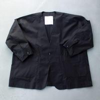 ノーカラーオーバージャケット/ BLACK