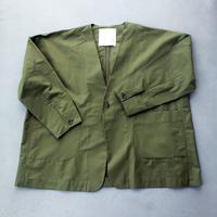 ノーカラーオーバージャケット/ GREEN