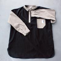 ストライプパジャマシャツ/black×gray