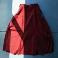 レクタンゴーネームスカート / red