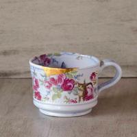 薔薇と猫のマグカップ