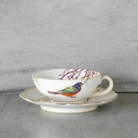 鳥と珊瑚のカップ&ソーサー
