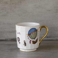 猫と気球のマグカップ