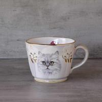 白猫のマグカップ