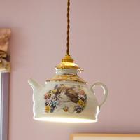 パンジーと仔猫のランプシェード