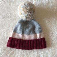 ボンボンニット帽ピンク