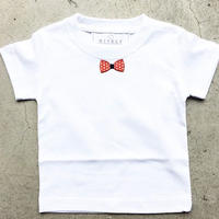 RED RIBON  KIDS TシャツWHITE