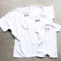 BLUEGRAY RIBON  TシャツWHITE LADYS/MENS