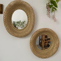 FACTORY JIN&POKO  輪弧編みミラー 楕円