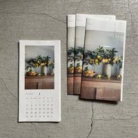 椿野恵里子  2021年カレンダー  「花と果実」