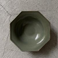 関口憲孝 八角5寸鉢 緑